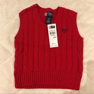 NWT Red Boys 2T Sweater Vest